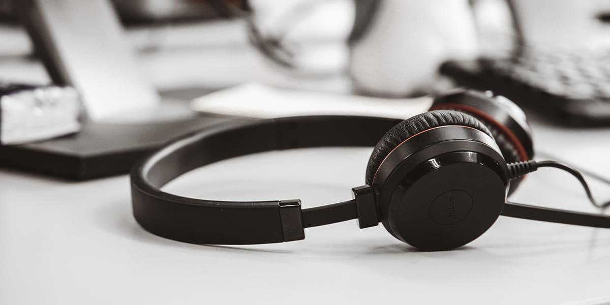 Bild von einem Headset.